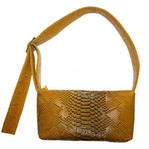 Golden Yellow Faux Snakeskin