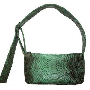 Green Faux Snakeskin
